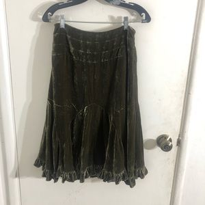 Anthropologie Odille Velvet Skirt